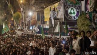 صورة لتجمع انتخابي في باكستان