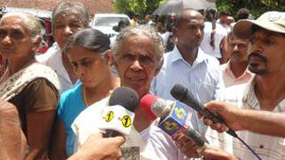 Relatives of the disappeared in Matale (file photo)