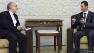 بشار اسد و علی اکبر صالحی