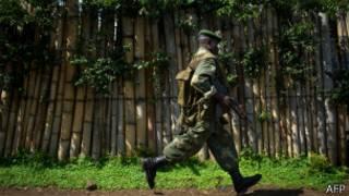 Umusirikare wa leta ya Kongo i Minova