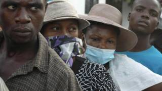 'Yan Haiti na karbar maganin cutar Cholera