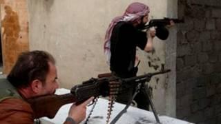 Wasu daga cikin sojoji 'yan tawaye a Syria