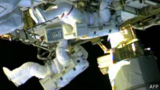 Во время выхода в открытый космос