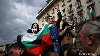 Митингующие в Болгарии