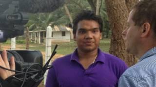 Namal Rajapaksa, MP, with Charles Haviland