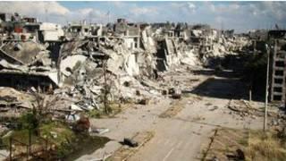 ویرانیهای  ناشی از جنگ داخلی سوریه