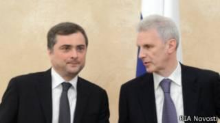 Владислав Сурков и Андрей Фурсенко