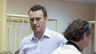 Алексей Навальный в зале суда (архивное фото)