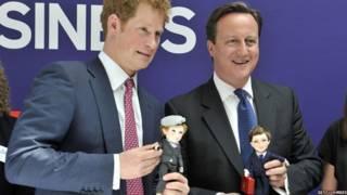 Thủ tướng David Cameron và Hoàng tử Harry. Ảnh: Getty Images/Bruce Adams