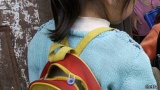 背着书包的小学生