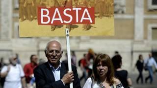 احتجاجات في روما