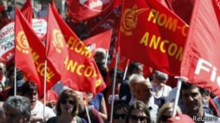 Протестующие в Италии