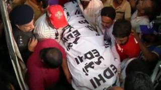 کراچی به خاک سپاری خانم حسین