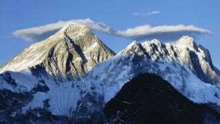 Monte Everest (foto de archivo)