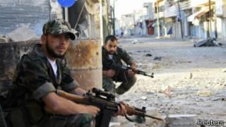 Повстанцы из Свободной сирийской армии в Кусейре