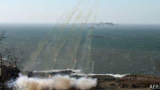 朝鲜向海上试射火箭