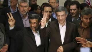 Махмуд Ахмадинежад и Эсфандиар Рахим Машаи