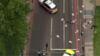 Cena do ataque em Woolwich, no sudeste de Londres