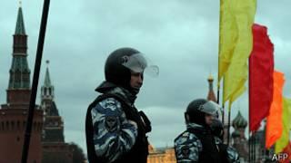 ОМОН на фоне Кремля
