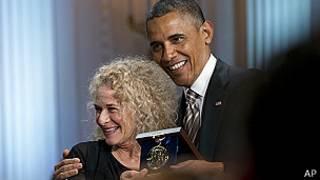 Carole King y Barack Obama