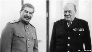 Winston Churchill y Joseph Stalin