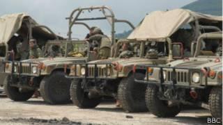 Израильские патрульные джипы