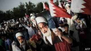 Bahreynli Şii din adamı İsa Kasım için gösteri