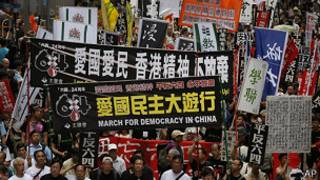 香港平反六四游行