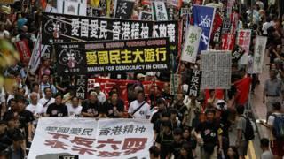 香港爱国民主大游行