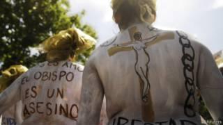 Manifestantes en El Salvador