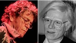 Lou Reed (kiri) dan Andy Warhol (kanan)