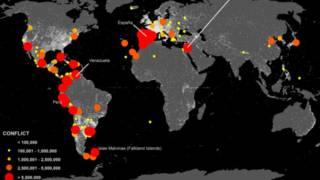 Mapa conflictos Wikipedia
