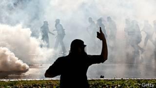 Protesto na praça Taksim (Foto Getty Image)