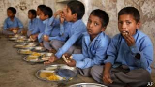 Crianças desnutridas / AP