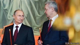 Vladimir Putin và Sergei Sobyanin