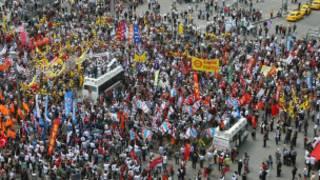 Ankara Kızılay'da KESK mitingi