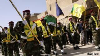 Hizbullah militanları Suriye'deki savaşta yer alıyor