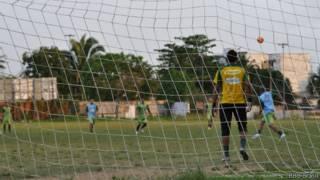 Jogadores do Paragominas (Foto: Daniel Gallas/BBC Brasil)