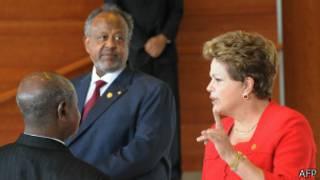 Dilma em Addis Abeba (Foto AFP)