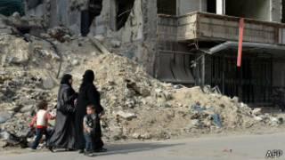 Сирийские женщины в Алеппо