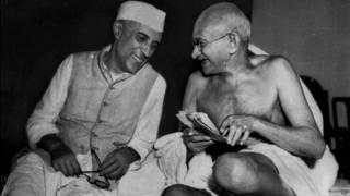 जवाहरलाल नेहरू और मोहनदास गाँधी