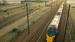 Một tàu cao tốc của Hitachi tại Anh quốc