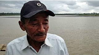 "Angel Segundo Hernandez, o ""pescador de mortos"" (Crédito: Arturo Wallace/BBC Mundo)"