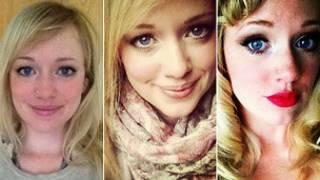 три фотографии одной девушки