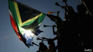 Waafrika Kusini wakishangilia kombe la dunia mwaka 2010