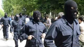 Грузинские полицейские в масках (17 мая 2013 года)