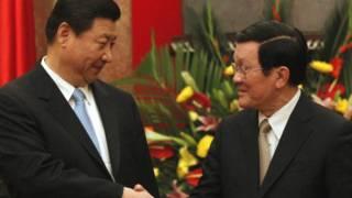 Hai ông Tập Cận Bình và Trương Tấn Sang khi ông Tập tới thăm Việt Nam trong cương vị Phó Chủ tịch nước