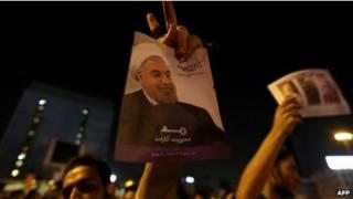 manifestação em apoio a Rouhani (foto: AFP)
