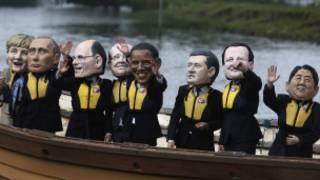 Protesto no G8 (Foto AP)