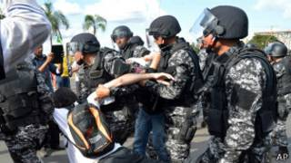 Manifestante em Brasília / AP